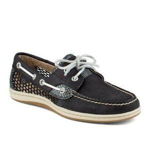 Sperry | black Koifish boat shoes with laces | 5.5